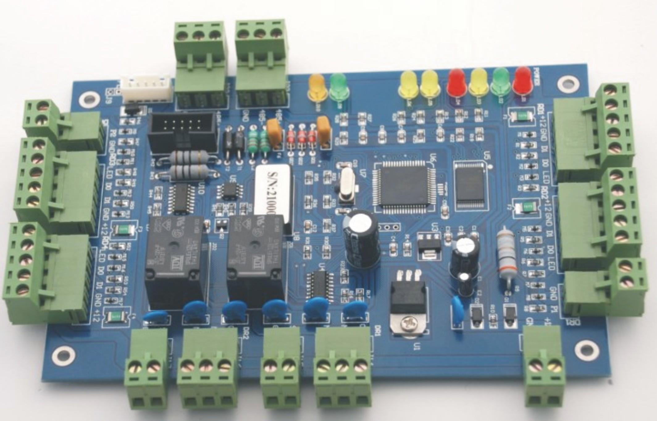 顺序控制在电路板上的接线图