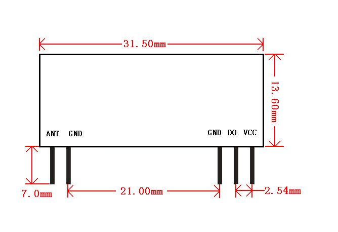 无线卷帘门超外差接收模块rxb8(图)