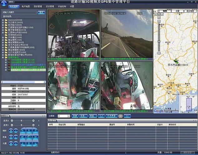 3G车载视频实时监控系统