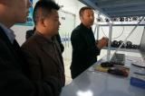 江苏保安公司莅临中德宏泰参观电子联动报警系统