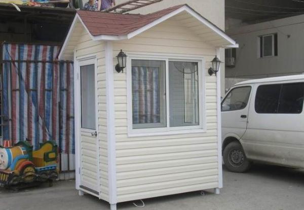 PVC挂板岗亭|服务亭|吸烟亭