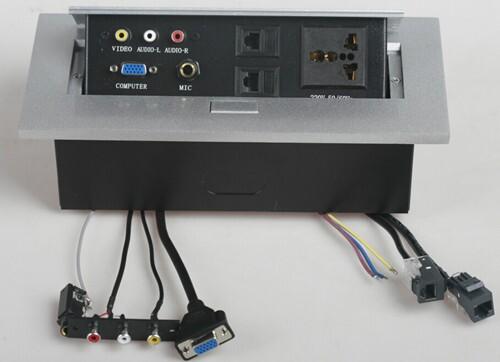 带线免焊接会议桌面插座 多功能信息盒 视频会议多功能插座