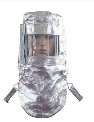 铝箔防火隔热面罩耐高温头罩700-1000度隔热服防辐射耐高温面罩