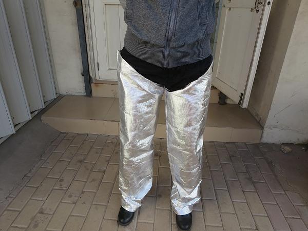 铝箔隔热护腿/耐高温铝箔隔热防火护腿//95%反辐射热铝箔护腿
