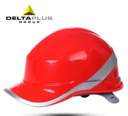 代尔塔102018钻石5型 abs荧光条,荧光安全帽 代尔塔绝缘矿工帽