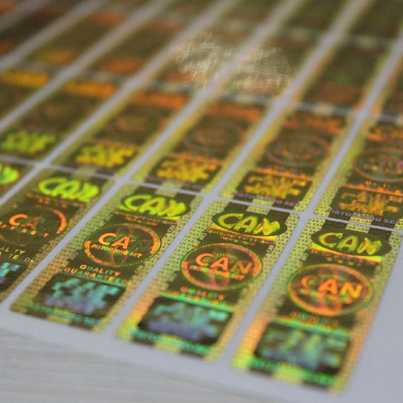 镂空号码防伪标签  镭射防伪商标 激光防伪标签