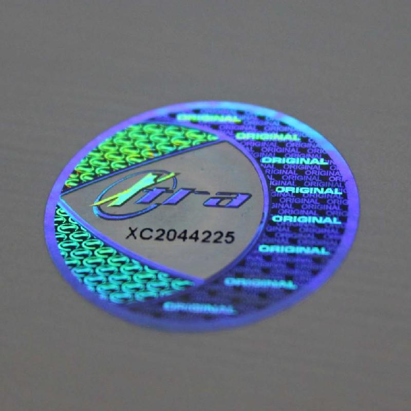 激光流水码防伪标签 镭射防伪商标 激光防伪标签