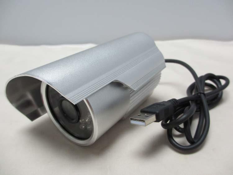 枪击防雨插卡摄像头USB智能监控摄像录像一体机 通电即录 免布线