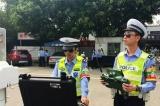 广州交警出动无人机严查交通违法