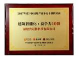 冠林斩获2017年度中国房地产竞争力十强供应商