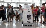 国内首台安保机器人上岗