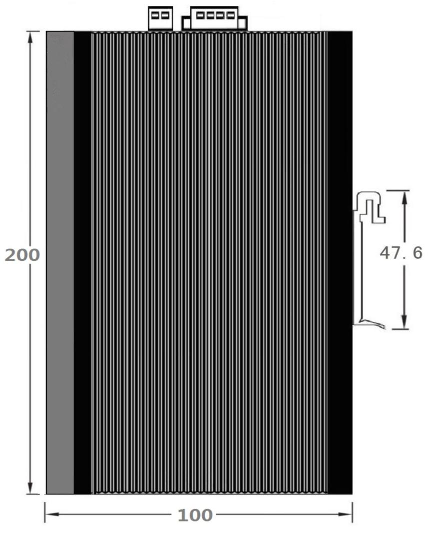 千兆4光16电环网工业级导轨交换机