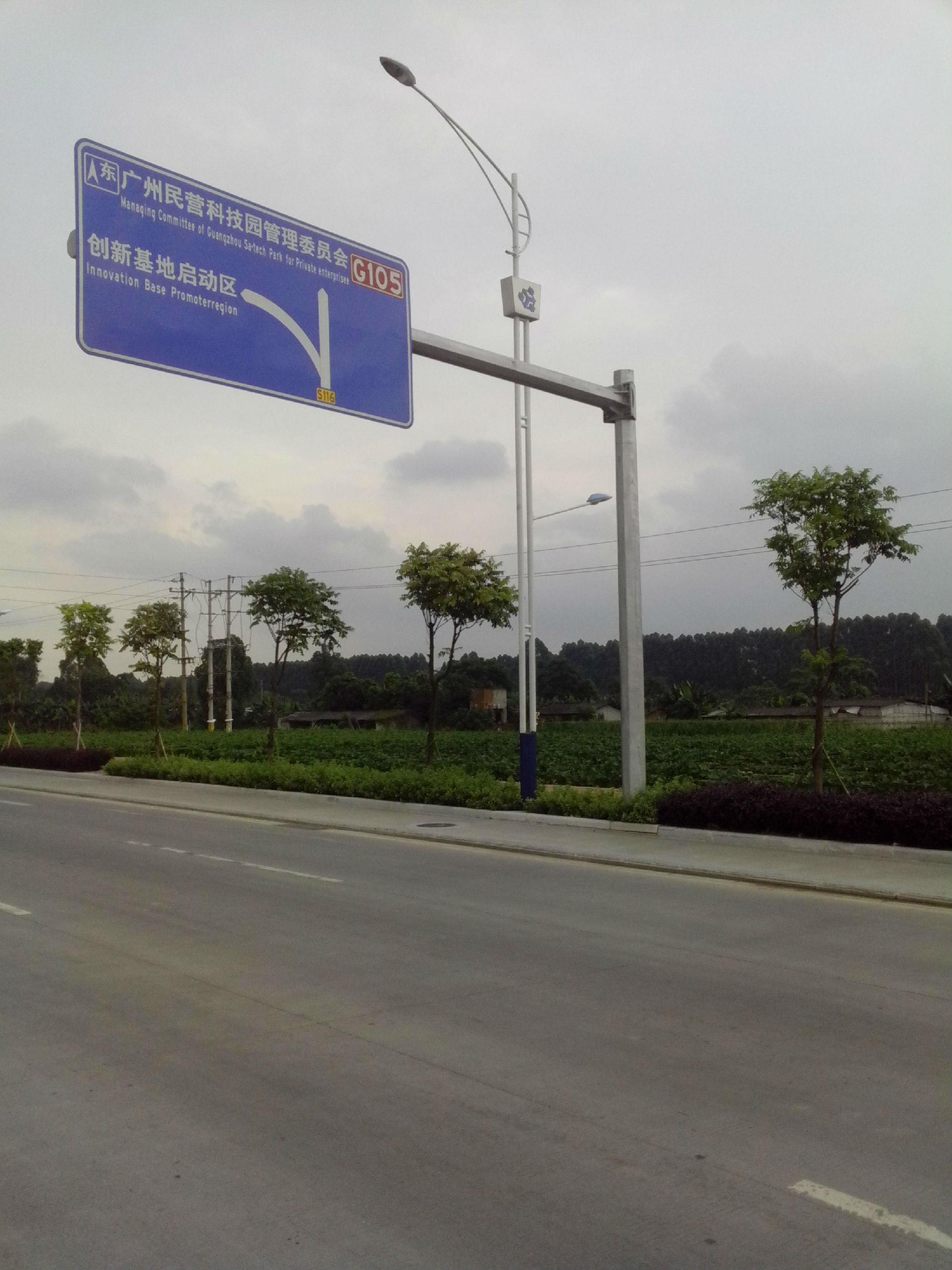 广州阿凡达八角杆,路标立杆,红绿灯杆