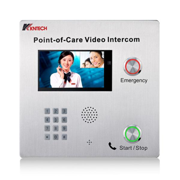 昆仑双向可视电话机 sip双向可视门禁电话机 免提扩音对讲机