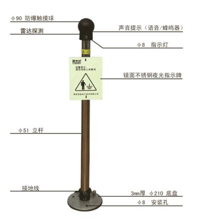 杰瑞久智防爆型人体静电释放器,厂家直销,价格优惠