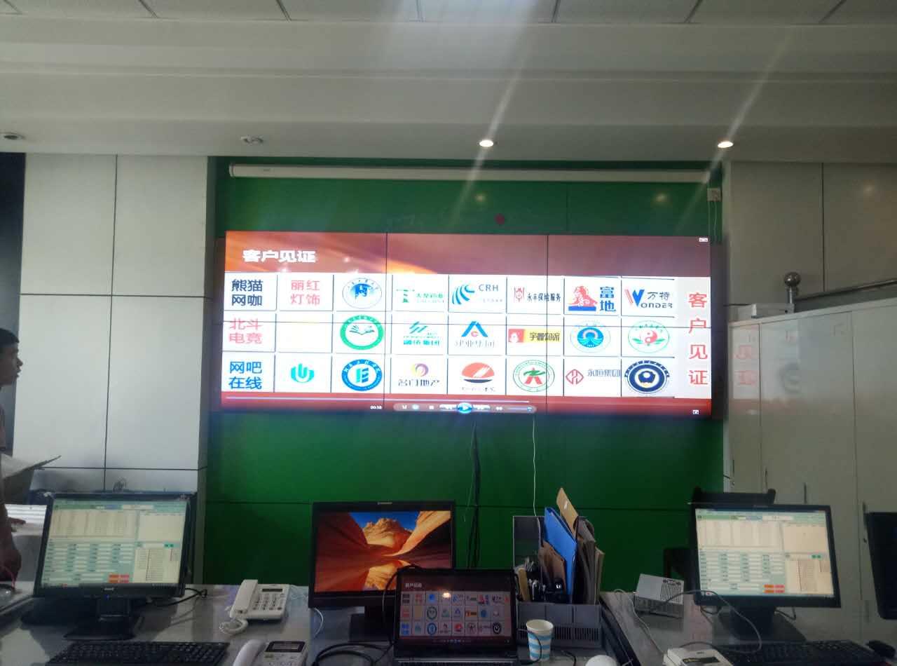河北鹿泉49寸液晶大屏幕热销,邢台超市安装液晶拼接屏