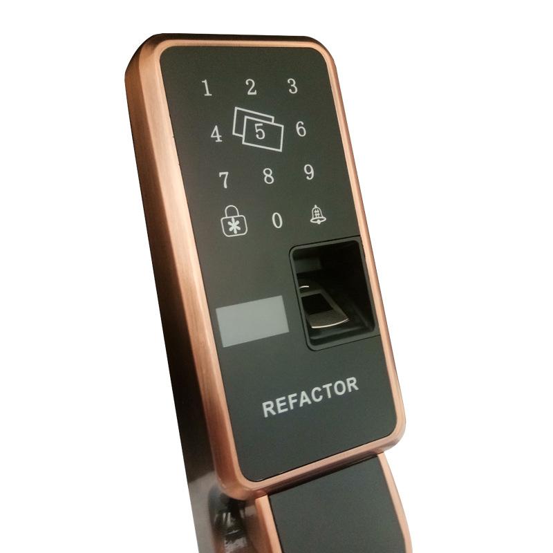 安居乐全自动指纹密码锁防盗门锁