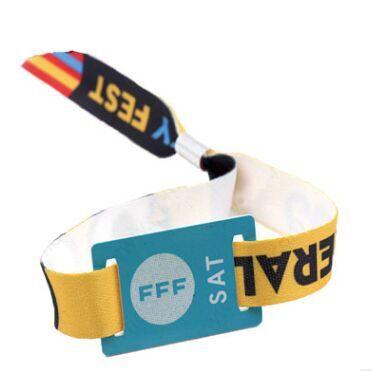 厂家供应各种织带手腕带,带RFID感应芯片,可作为比赛门票用