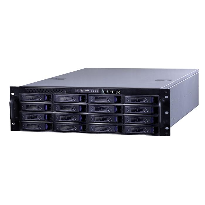 杰士安16盘位单电源存监控储转发一体机