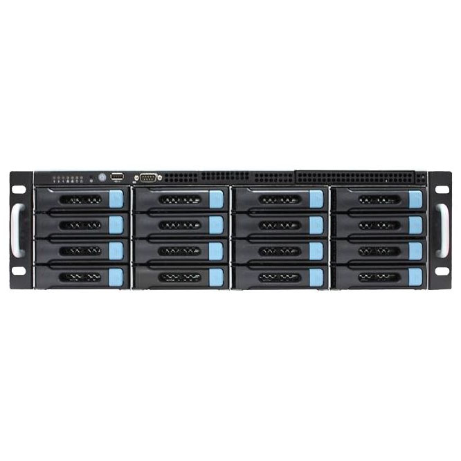 16盘位监控管理存储转发一体机,安防存储服务器