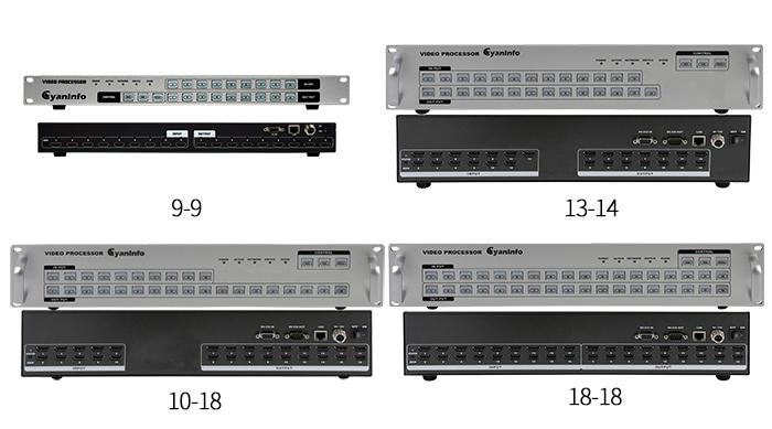 湖北中控式HDMI矩阵|10进18出视频矩阵|平板控制矩阵