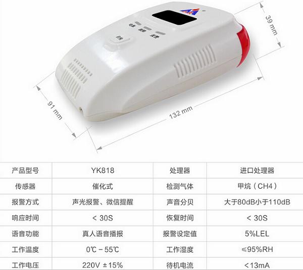 河北永康燃气报警器YK818热销款