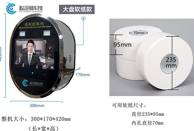 人脸识别厕纸机