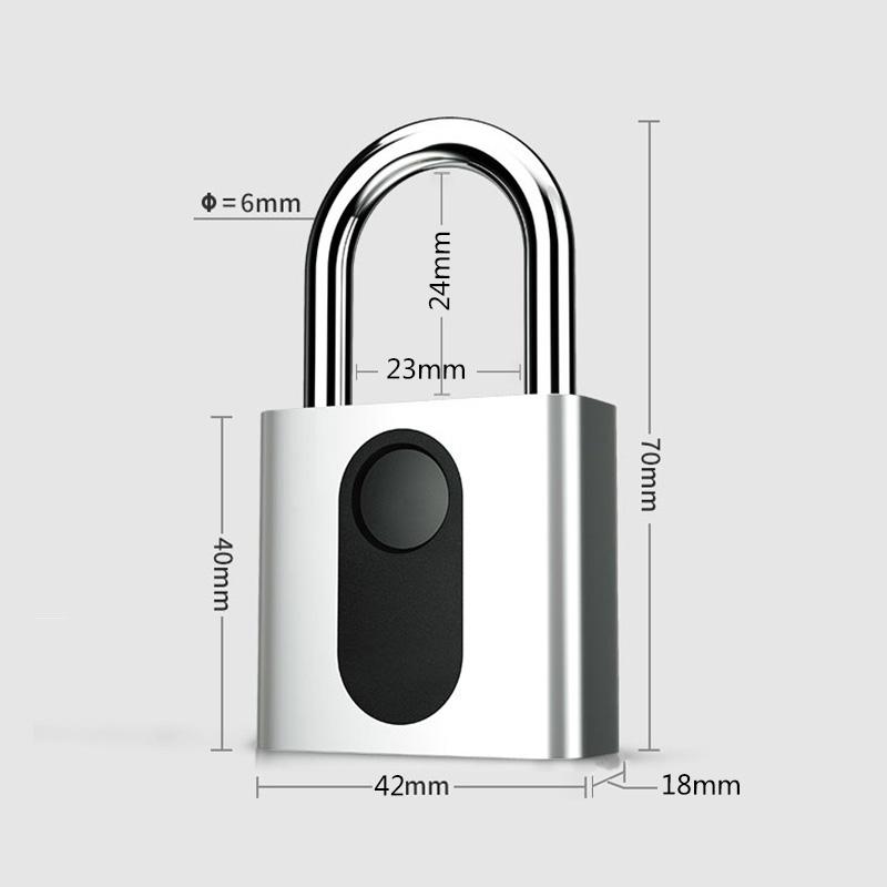 BioLock P4智能指纹方形挂锁
