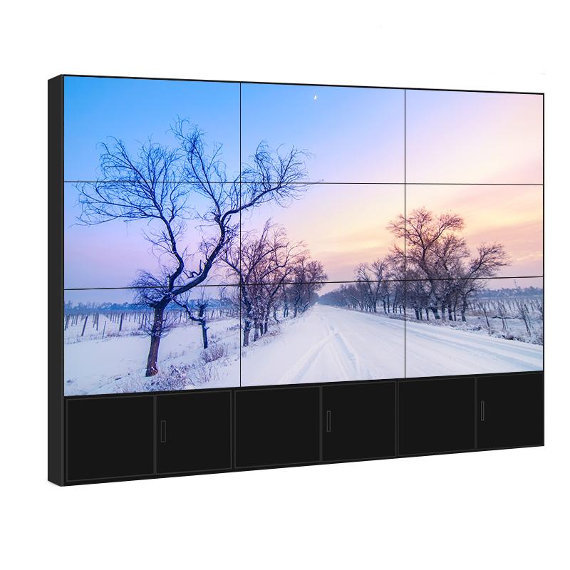 三星LG55寸液晶拼接屏 超窄边拼缝1.8mm高亮无缝大屏电视墙厂家