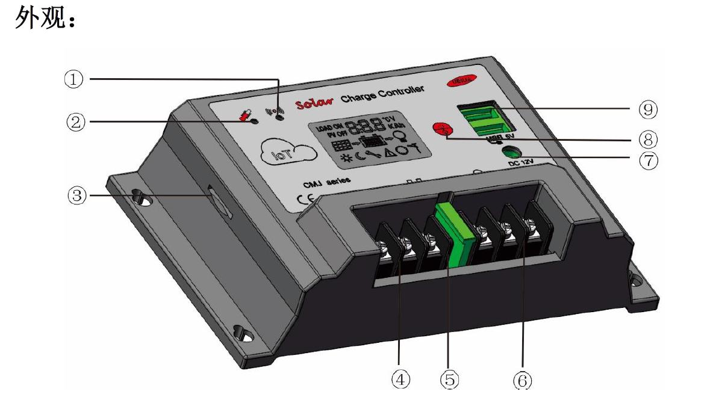 GPRS物联网智能太阳能控制器CMJ