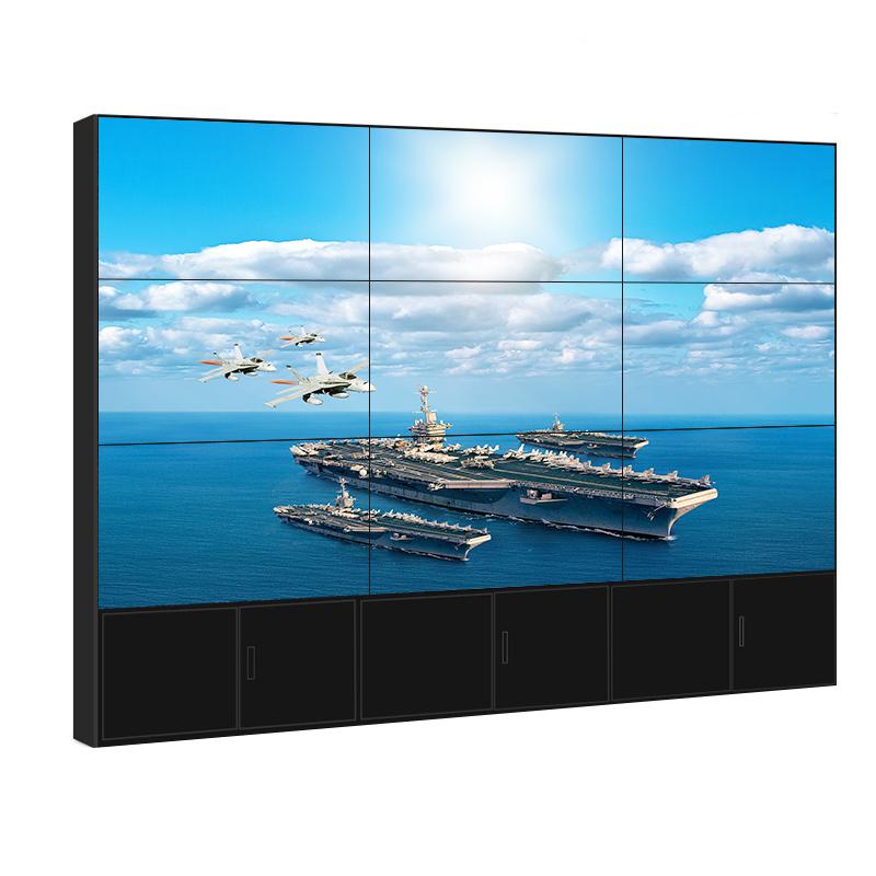 高清49寸液晶曲面拼接屏监控会议超窄边弧形拼接电视墙显示大屏幕