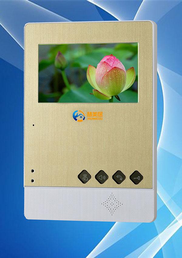 网线数码彩色可视对讲门铃4.3寸分机