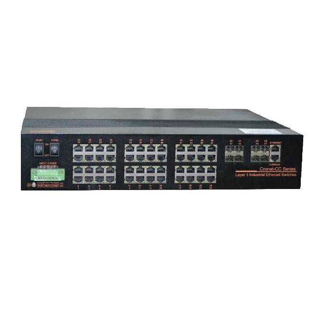Cronet CC-3452-TX8 48GE+8G/8T 三层千兆/万兆工业以太网交换机