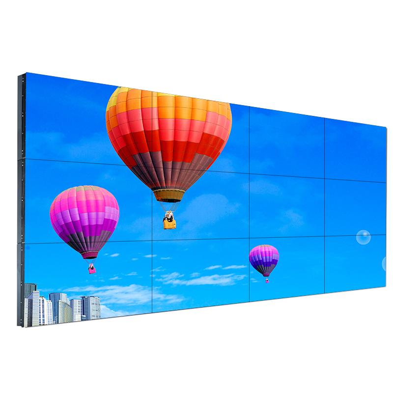 曲面拼接屏无缝液晶显示屏工厂定制高清广告墙监视器