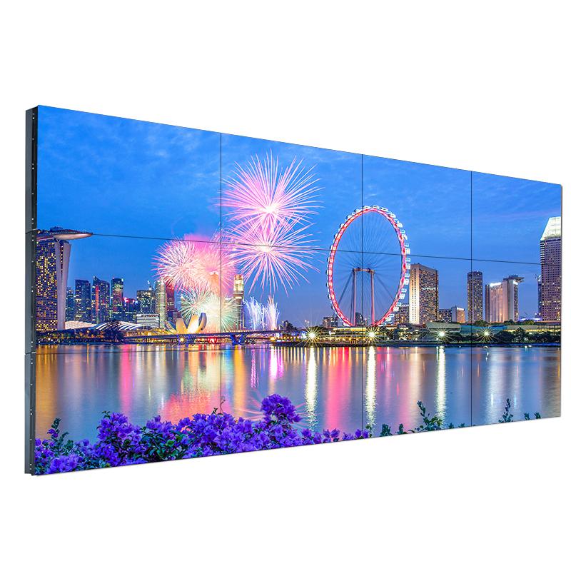 LG 49/55寸液晶拼接屏3.5mm1.8mm拼缝窄电视墙视频监控系统