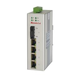 MIE-1105 4FE+1F卡轨式百兆非网管工业以太网交换机