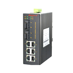MIE-1208 6FE+2F卡轨式百兆非网管工业以太网交换机