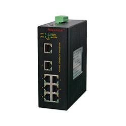 MIE-5008 8FE卡轨式百兆网管型工业以太网交换机