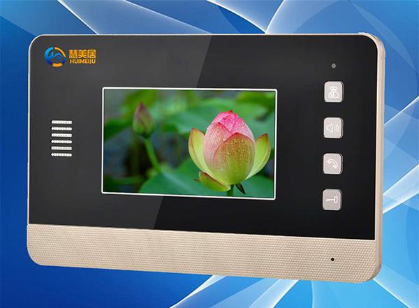 供应网线数码彩色可视楼宇对讲系统4.3寸分机