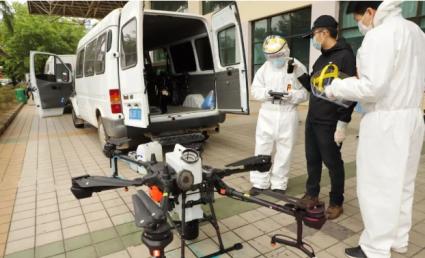 无人机应用新场景助力疫情防控