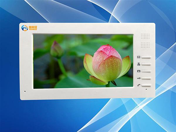 供应网线数码彩色可视门铃7寸分机