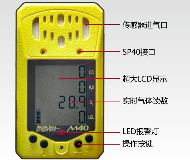 M40手持复合式气体检测报警仪