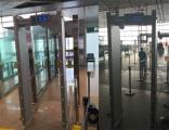 """科技助力战""""疫""""  首都国际机场启用海康威视测温安检门"""