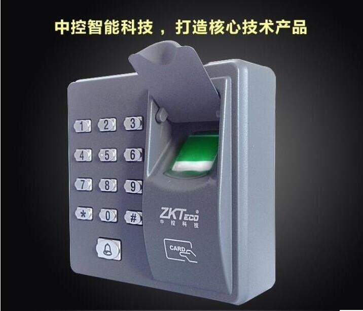 红外指纹锁 密码门禁zk-x6 广州中控