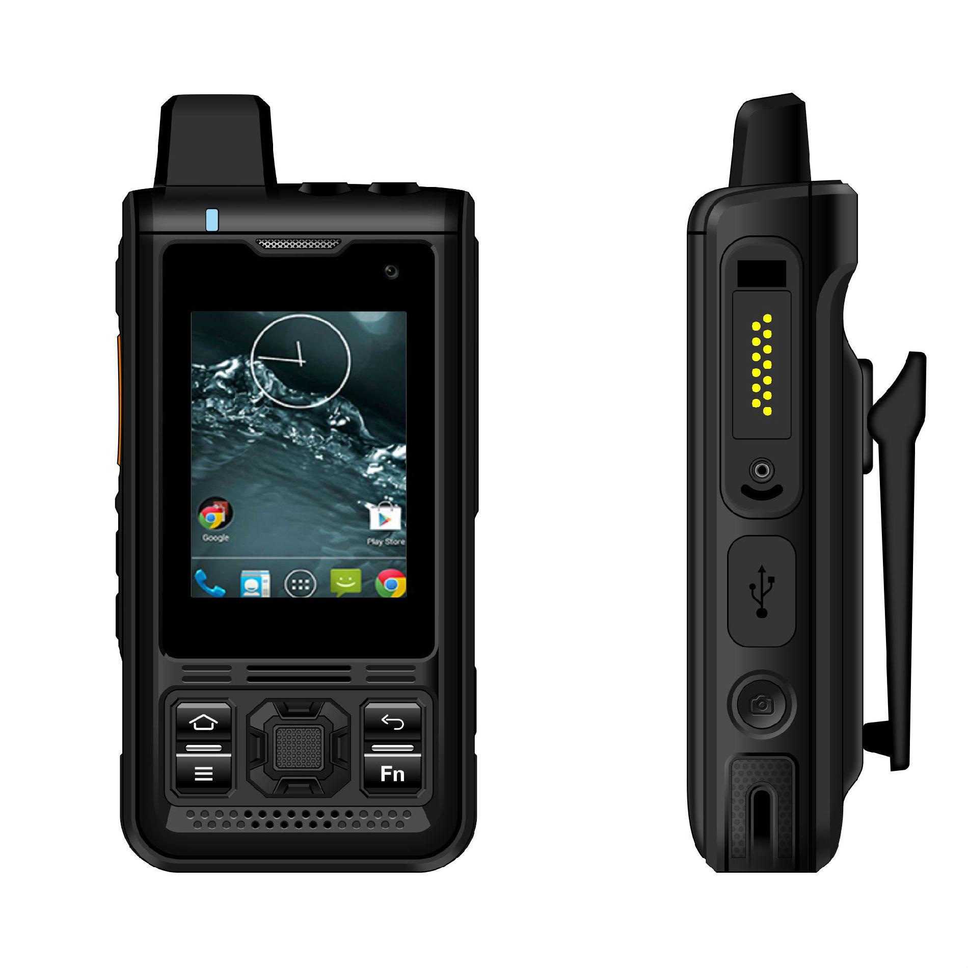 2.4寸屏安卓系统智能巡检终端全网通4G公网对讲巡检巡更手持机