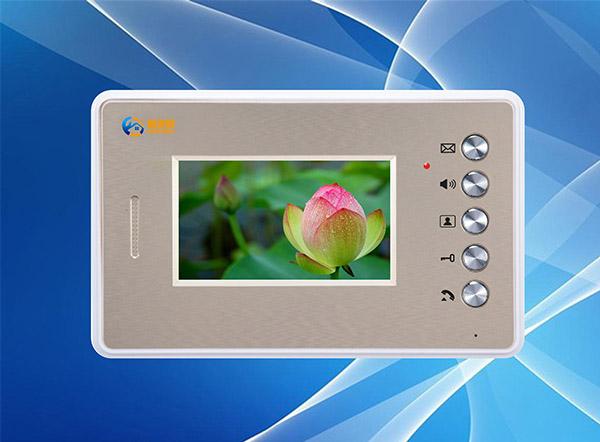 供应网线数码彩色可视对讲门铃4.3寸分机