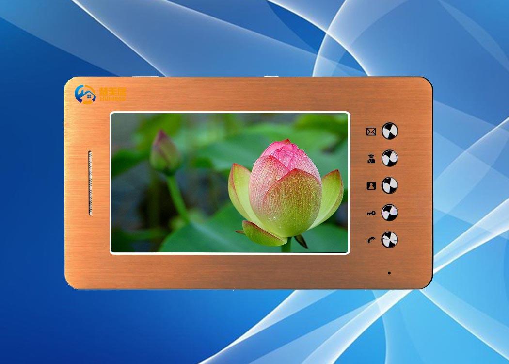 网线数码彩色可视门铃7寸分机