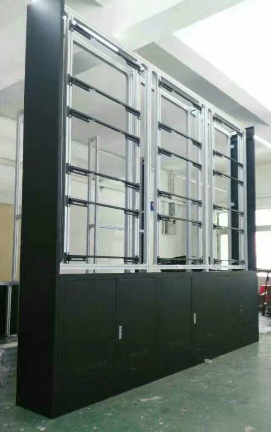 拼接电视墙机柜、落地支架、前维护液压壁挂支架