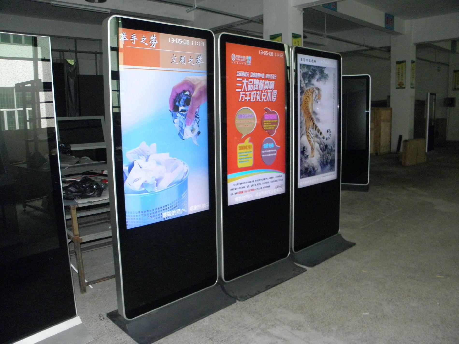 楼宇广告机、室内室外广告机、可带触摸,多媒体发布系统