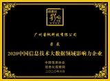 喜讯!睿帆科技荣获2020中国信息技术大数据领域影响力企业